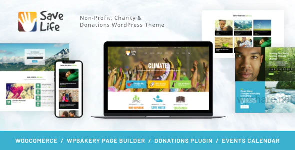 Save Life 1.2.3 – Non-Profit, Charity & Donations WordPress Theme