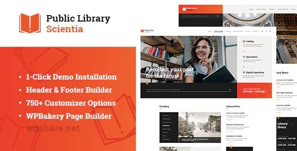 Scientia 1.0.1 – Public Library & Book Store Education WordPress Theme