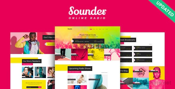Sounder 1.2.0 – Online Internet Radio Station WordPress Theme
