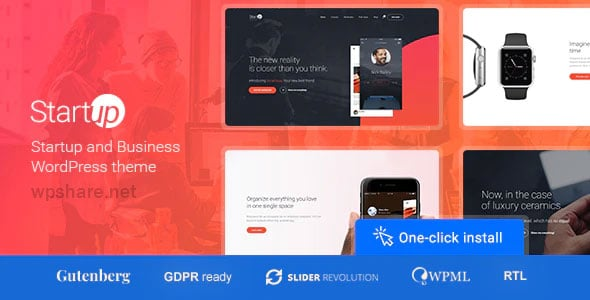 Startup Company 1.1.1 – WordPress Theme for Business & Technology