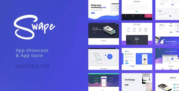 Swape 1.8.2 – App Showcase & App Store WordPress Theme