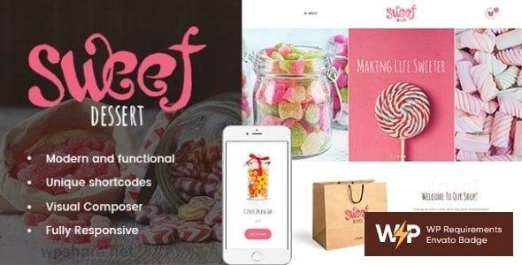 Sweet Dessert 1.1.4 – Candy Shop & Cafe WordPress Theme