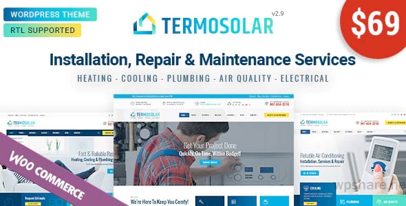 Termosolar 2.9 – Maintenance Services WordPress Theme