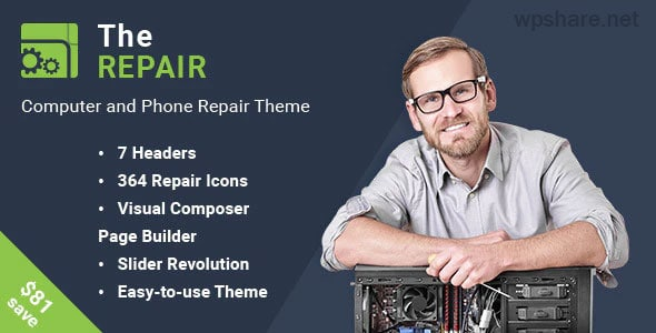 The Repair 2.9.4 – Computer and Electronic WordPress Theme