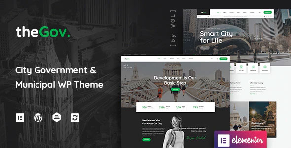 TheGov 1.1.5 – Municipal and Government WordPress Theme