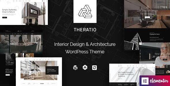 Theratio 1.1.4.2 – Architecture & Interior Design Elementor WordPress Theme