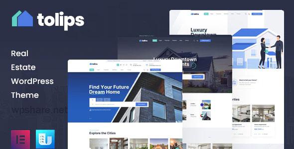 Tolips 1.1.2 – Real Estate WordPress Theme