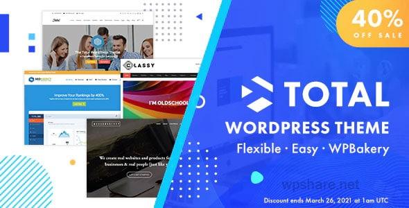 Total 5.1.1 – Responsive Multi-Purpose WordPress Theme