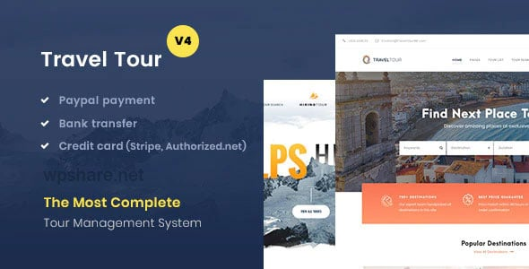 TravelTour 4.2.6 – Travel & Tour Booking WordPress
