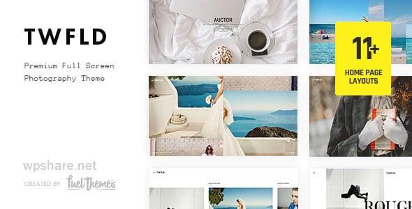 TwoFold 3.7.0 – Fullscreen Photography WordPress Theme