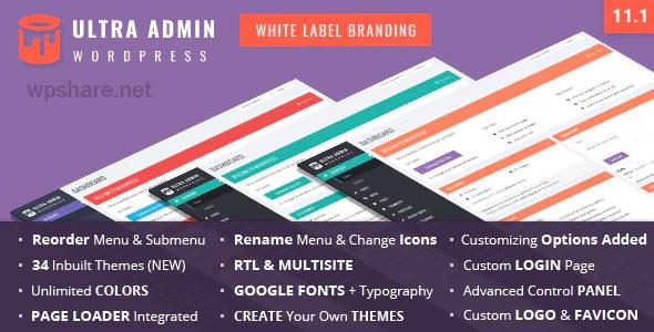 Ultra WordPress Admin Theme v11.1