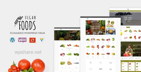 Vegan Food 5.2.22 – Organic Store Responsive WooCommerce WordPress Theme