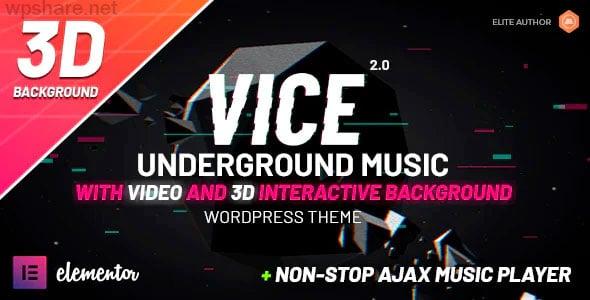 Vice 2.1.4 – Underground Music Elementor WordPress Theme
