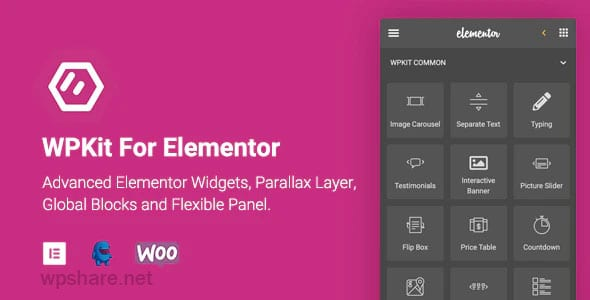 WPKit For Elementor 1.0.8 – Advanced Elementor Widgets Collection & Parallax Layer