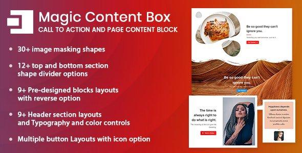 Magic Content Box 1.0.0 – Page Content Builder Gutenberg Block for WordPress