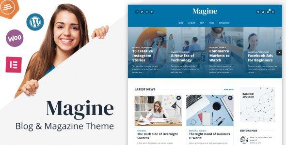 Magine 1.4.1 – Business Blog WordPress Theme