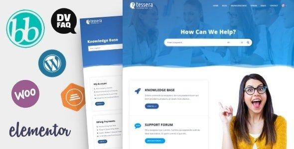 Tessera 2.4.1 – Knowledge Base & Support Forum WordPress Theme