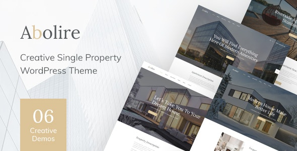 Abolire 1.0.13 – Single Property WordPress Theme