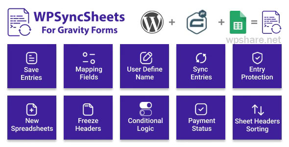 WPSyncSheets For Gravity Forms 3.1 – Gravity Forms Google Spreadsheet Addon