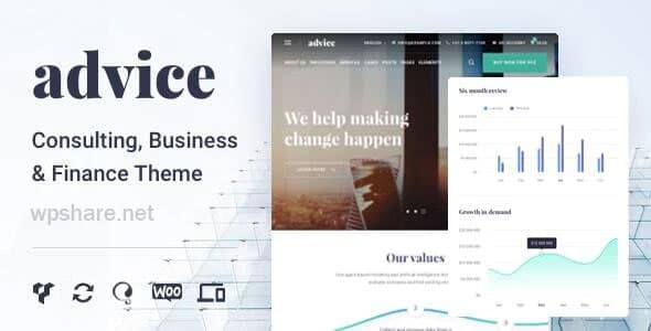 Advice 4.5.4 – Business Consulting WordPress Theme
