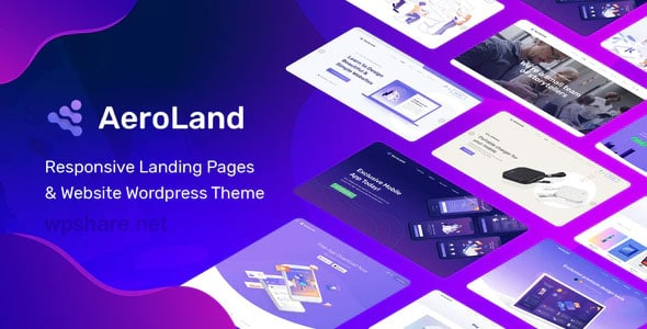 AeroLand 4.0 – App Landing Software Website WordPress Theme
