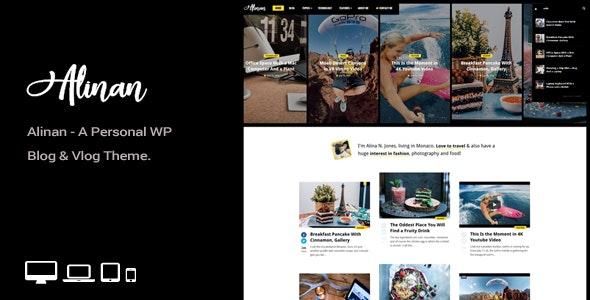 Alinan WP 2.3 – A Personal WordPress Blog and Vlog Theme