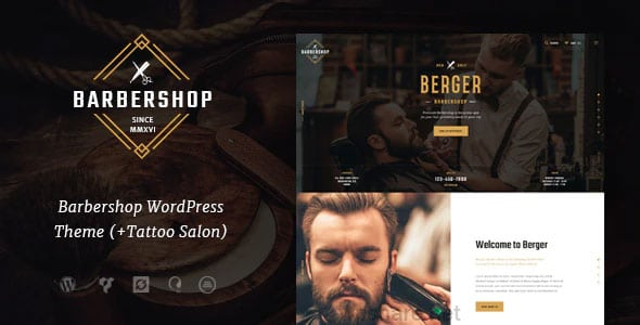 Berger 1.1.1 – Barbershop and Hairdresser + Tattoo Salon WordPress Theme