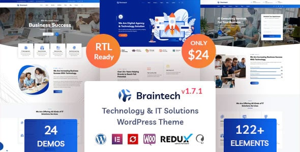 Braintech 1.7.1 – Technology & IT Solutions WordPress Theme