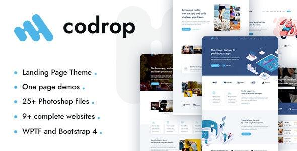 Codrop 1.0 – App Landing Page Theme