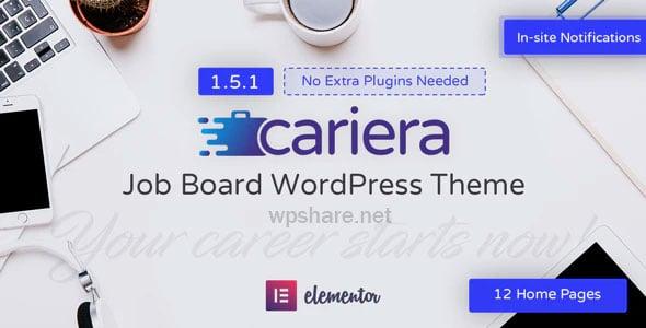 Cariera 1.5.4 – Job Board WordPress Theme