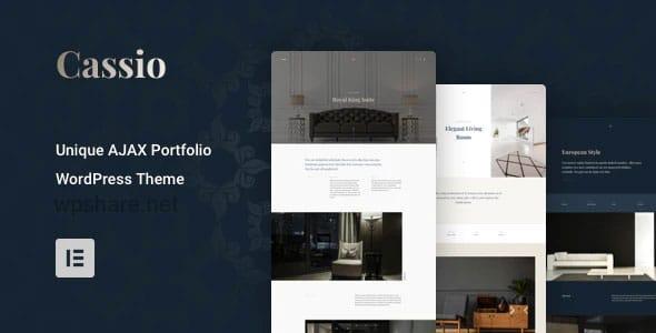 Cassio 2.6.1 – AJAX Portfolio WordPress Theme