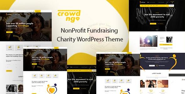 Crowdngo 1.0.5 – Fundraising Charity WordPress Theme