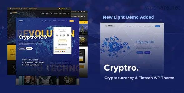 Cryptro 1.4.0 – Cryptocurrency, Blockchain , Bitcoin & Financial Technology