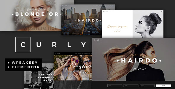 Curly 2.4 – A Stylish Theme for Hairdressers and Hair Salons