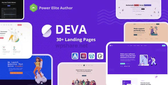 Deva 1.0.5 – Landing Pages WordPress Theme