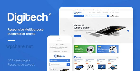 Digitech 1.1.4 – Technology Theme for WooCommerce WordPress