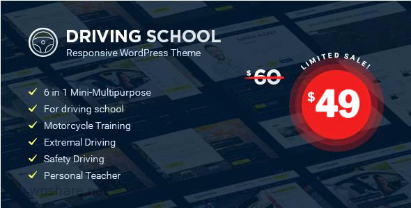 Driving School 1.4.9 – WordPress Theme