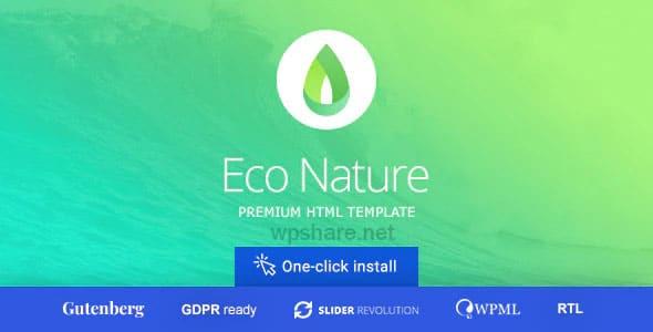 Eco Nature 1.5.1 – Environment & Ecology WordPress Theme