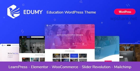 Edumy 1.2.0 – LMS Online Education Course WordPress Theme