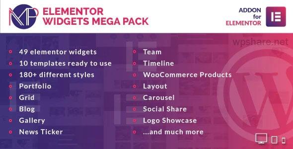 Elementor Widgets Mega Pack 1.1 – Addons for Elementor Page Builder WordPress Plugin