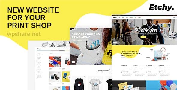 Etchy 1.0 – Print Shop WordPress Theme
