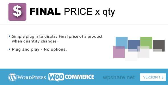 Final Price 1.8.2 – WordPress Plugin