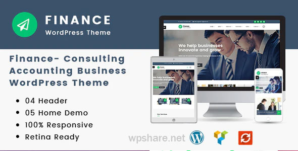 Finance 1.3.8 – Consulting, Accounting WordPress Theme