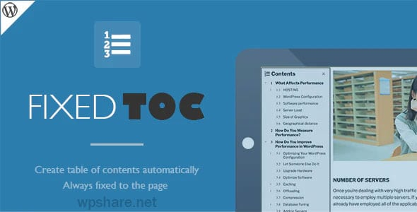 Fixed TOC 3.1.24 – Table of contents for WordPress plugin