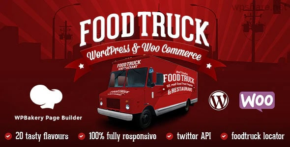Food Truck 5.9 –  Restaurant 20 Styles WordPress Theme