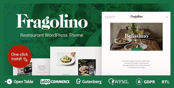 Fragolino 1.0.5 – An Exquisite Restaurant WordPress Theme