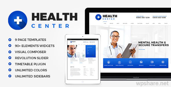 Health Center 2.1 – Medical WordPress theme