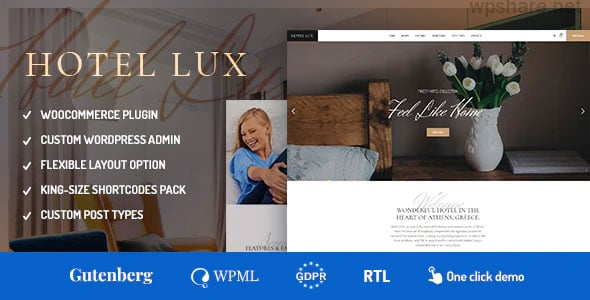 Hotel Lux 1.1.8 – Resort & SPA WordPress Theme
