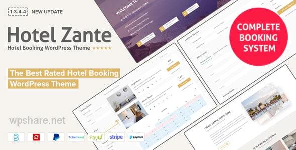 Hotel Zante 1.3.4.4 – Hotel Booking WordPress Theme