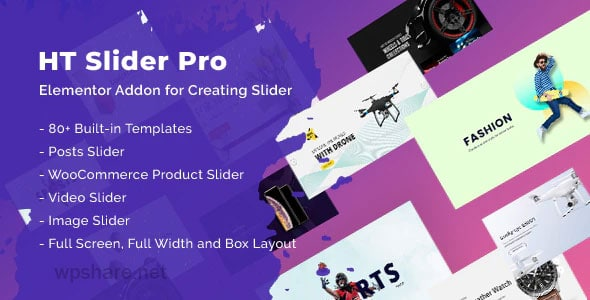 HT Slider Pro For Elementor v1.0.8
